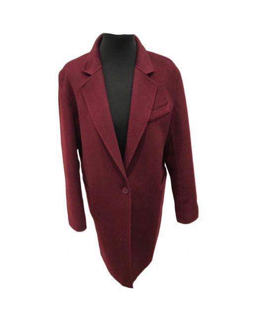 Sandro - Red Wool Coat - Lyst