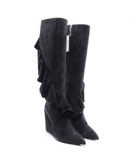 J.W. Anderson Black Suede Boots