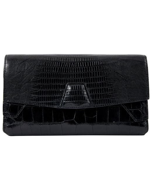 Alexander Wang - Black Pre-owned Leather Clutch Bag - Lyst