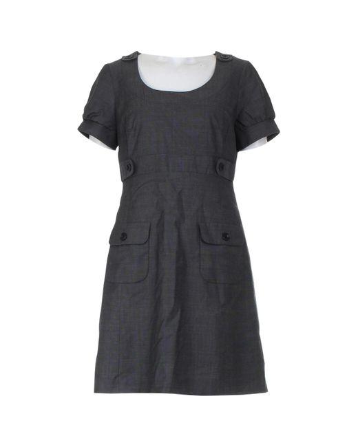 Karen Millen Gray Grey Wool Dress