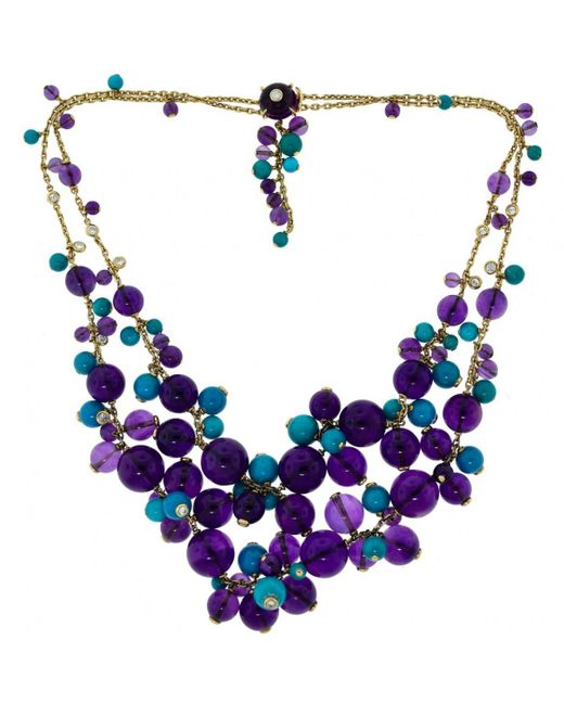 Cartier - Multicolor Yellow Gold Necklace - Lyst