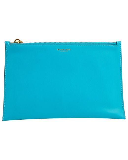Michael Kors Blue Leather
