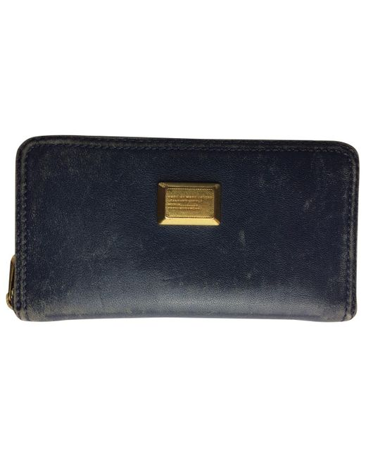 Marc By Marc Jacobs Blue Navy Leather