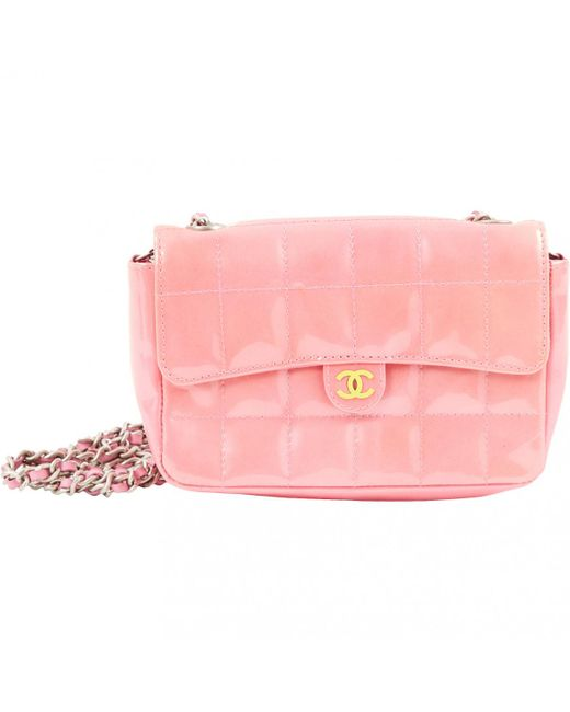 Chanel Pre Owned Timeless Pink Patent Leather Handbag Lyst