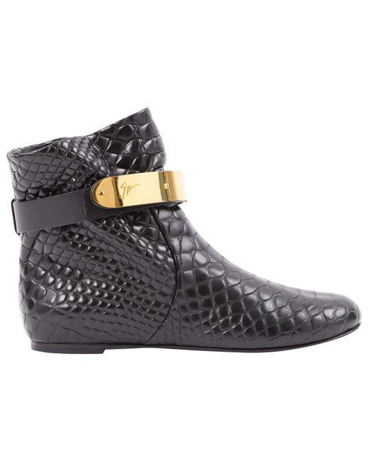 Giuseppe Zanotti Black Leather