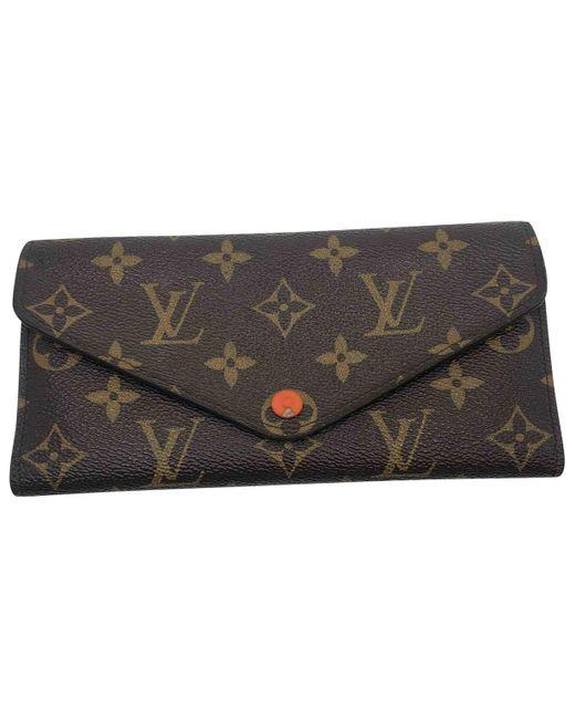 Cartera de Lona Louis Vuitton de color Brown
