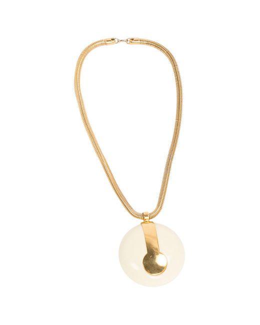Lanvin - Metallic Vintage Gold Metal Necklace - Lyst