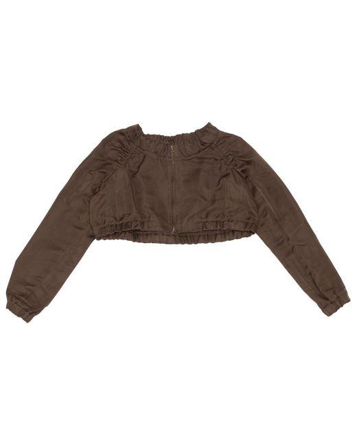 Marni Brown Khaki Silk Jacket