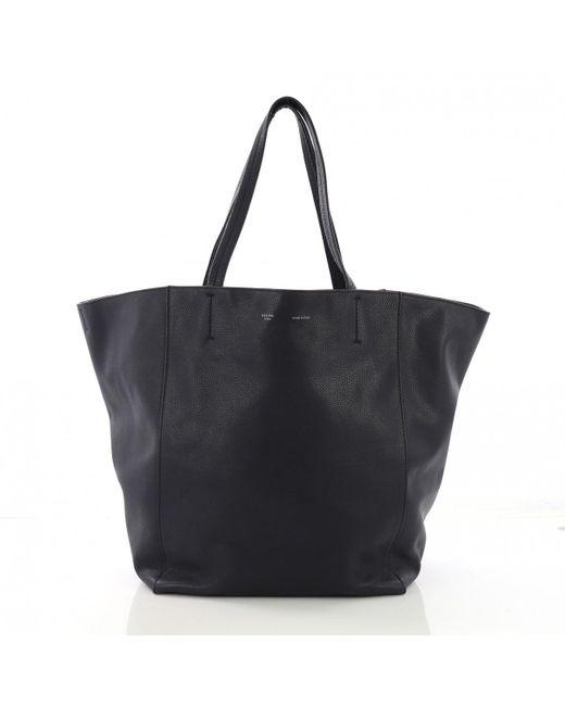 a57ed206c0c0 Céline Pre-owned Cabas Phantom Blue Leather Handbags in Blue - Lyst