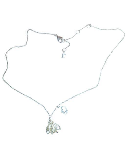 Dior - Metallic Oblique Necklace - Lyst