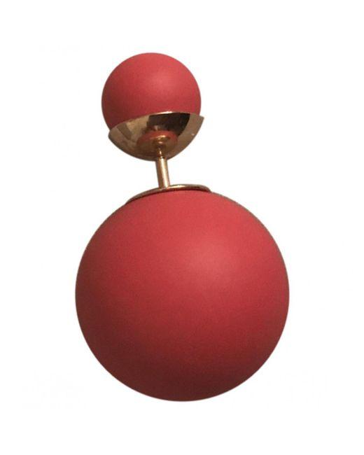 Dior - Red Earrings - Lyst