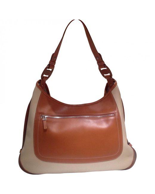 Ferragamo - Natural Beige Leather Handbag - Lyst