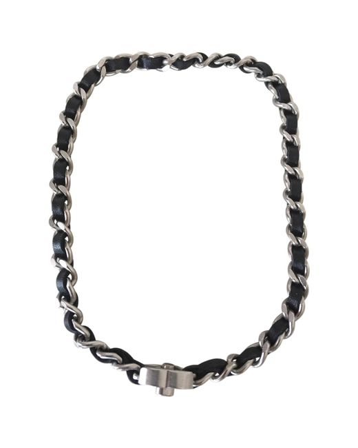 Chanel   Black Pre-owned Necklace Or Double Bracelet   Lyst