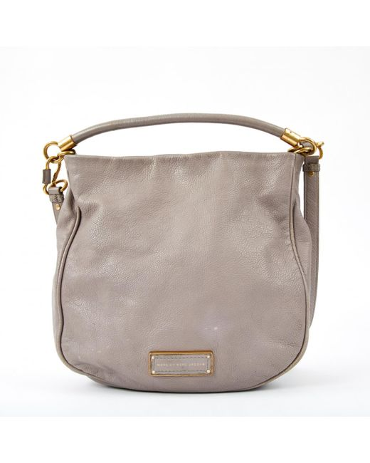 Marc By Marc Jacobs - Gray Pre-owned Classic Q Leather Bag - Lyst