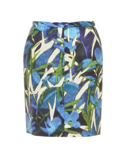 Dries Van Noten   Blue Pre-owned Silk Mid-length Skirt   Lyst