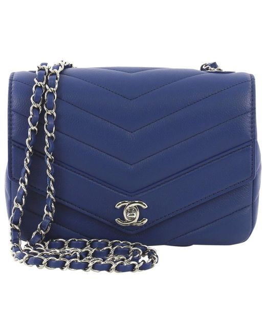1e4ab6bee3 Sac à main en cuir Chanel en coloris Bleu - Lyst