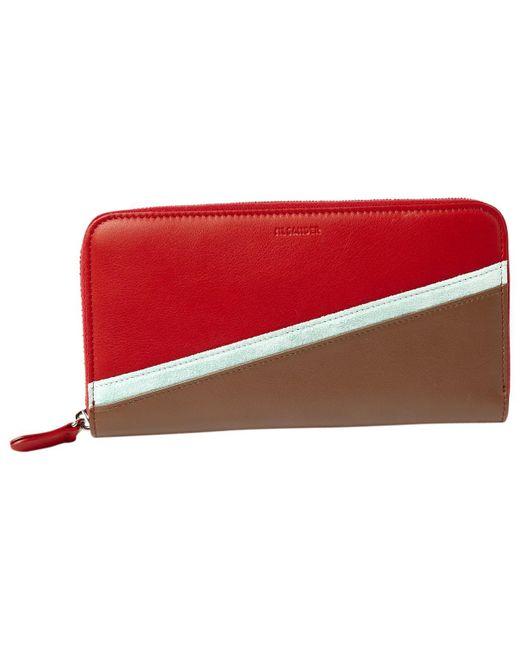 Jil Sander - Red Leather Wallet - Lyst