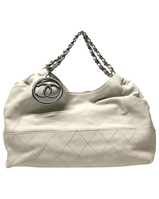 Chanel - Metallic Coco Cabas Other Leather Handbag - Lyst