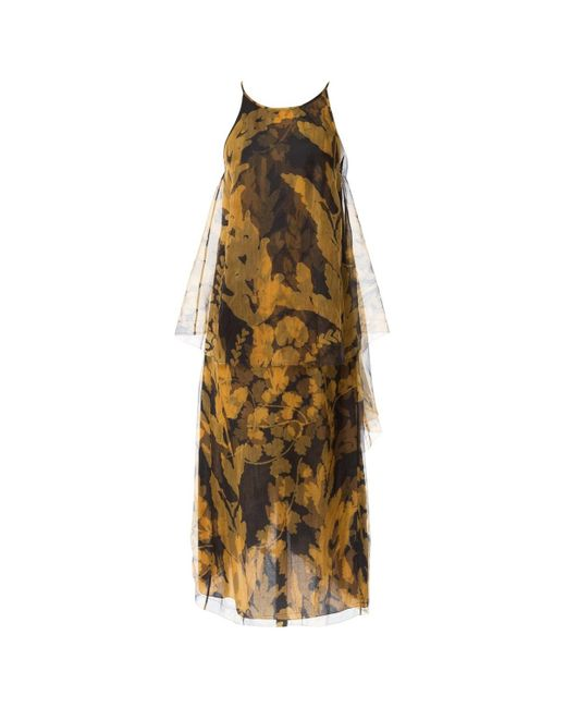 Lanvin Yellow Silk Dress