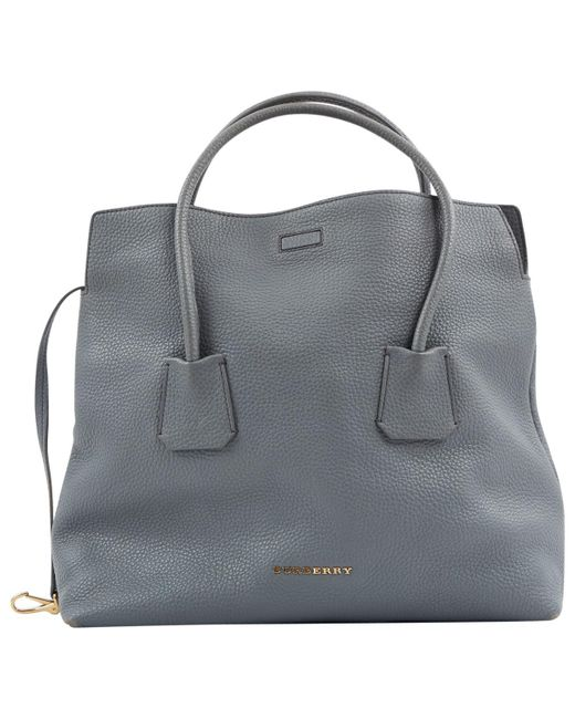 48fadc9d14 Burberry - Blue Leather Handbag - Lyst ...
