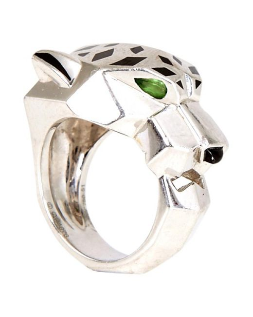 Cartier   Metallic Pre-owned Panther Ring In White Gold   Lyst