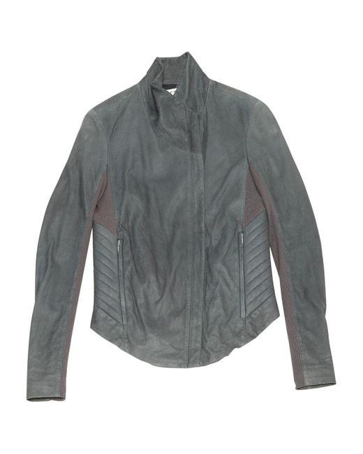 Helmut Lang Gray Grey Leather Jacket
