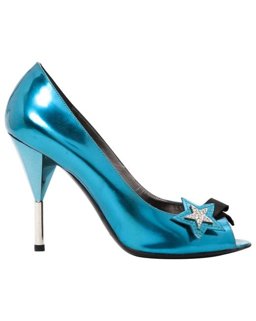 Marc By Marc Jacobs Blue Patent Leather