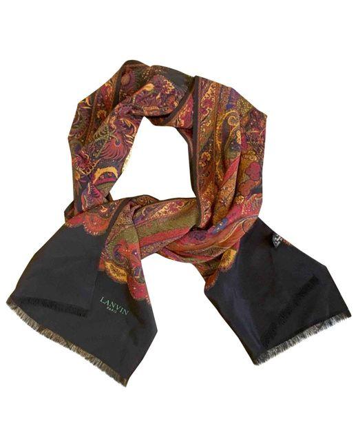 Lanvin Multicolor Multicolour Silk