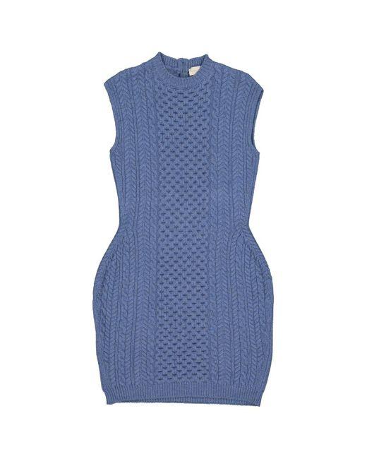 Stella McCartney Blue Wool Dress