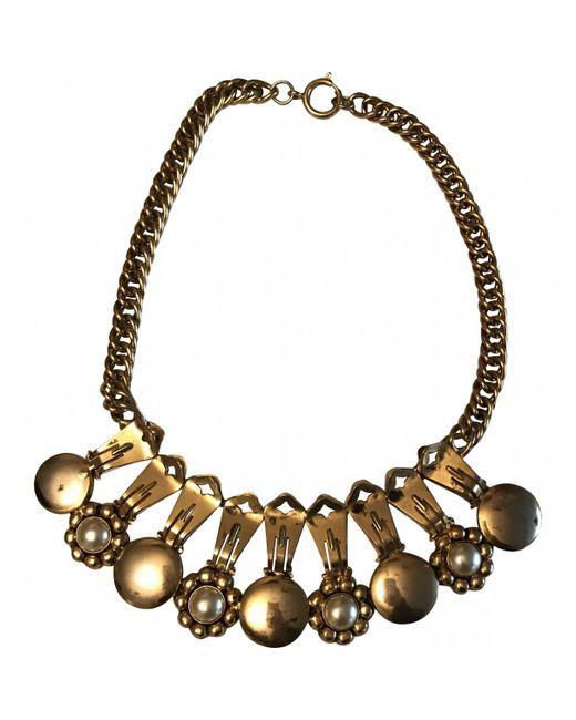 Moschino - Metallic Necklace - Lyst