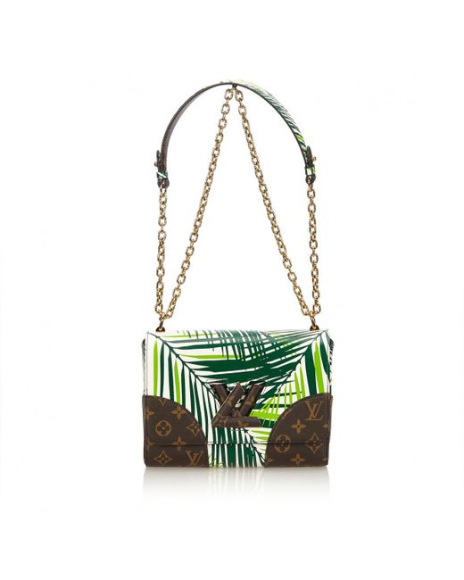 Louis Vuitton - Green Twist Leather Handbag - Lyst