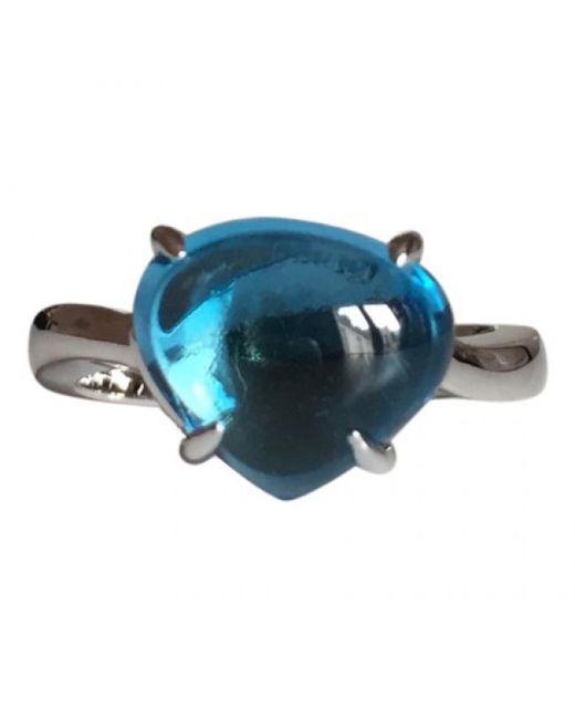 BVLGARI - Blue White Gold Ring - Lyst