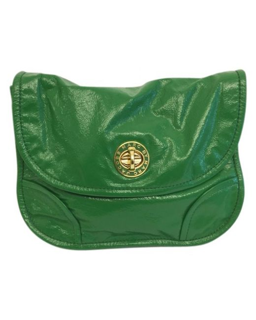 Marc By Marc Jacobs - Pre-owned Green Patent Leather Handbags - Lyst