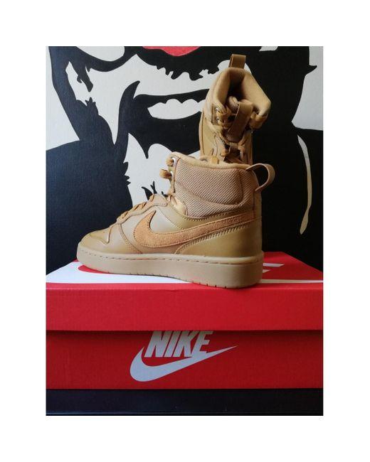 vistazo Inconsciente Imperio  Nike Deportivas en cuero camel de mujer