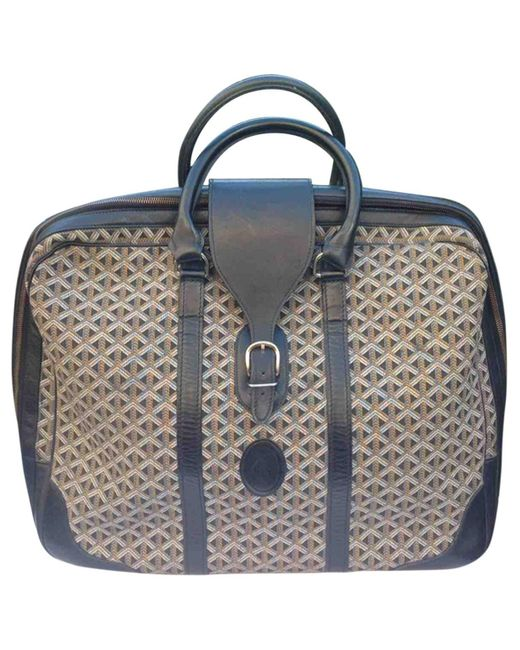 Goyard Black Cloth Travel Bag