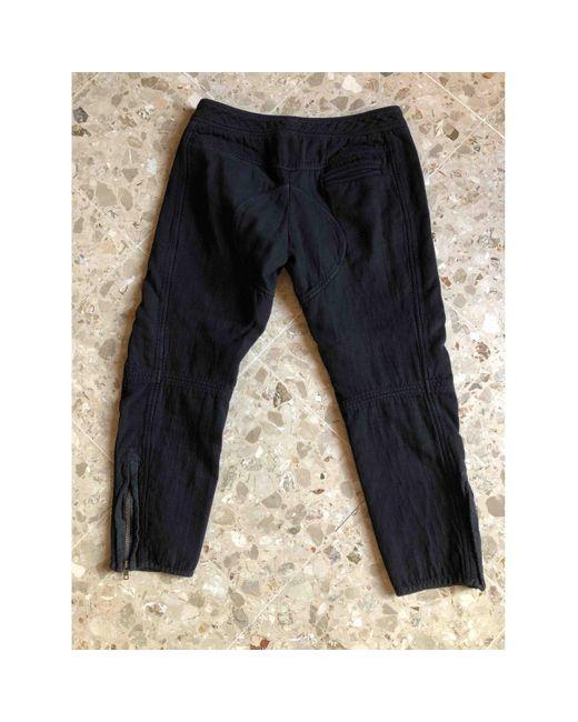 Étoile Isabel Marant Pantalons en Coton Noir femme