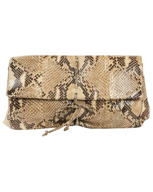 Bottega Veneta - Natural Python Clutch Bag - Lyst ... 7c95dbac4612a