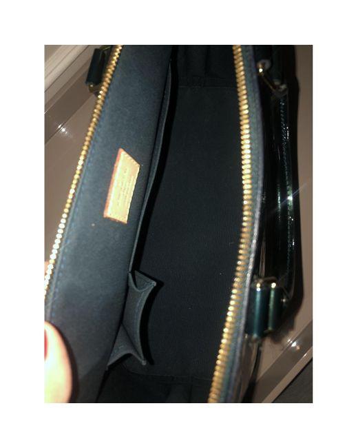 Louis Vuitton Black Alma Lackleder Handtaschen