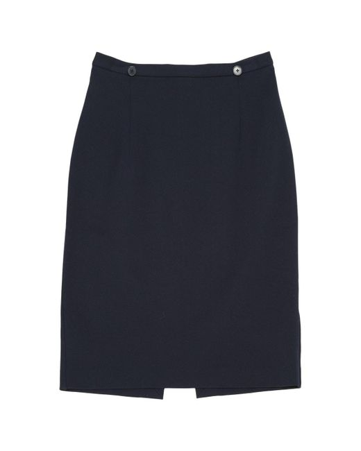 Jil Sander Blue Navy Viscose Skirt
