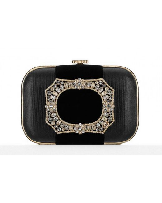 Chanel - Pre-owned Black Cloth Clutch Bags - Lyst