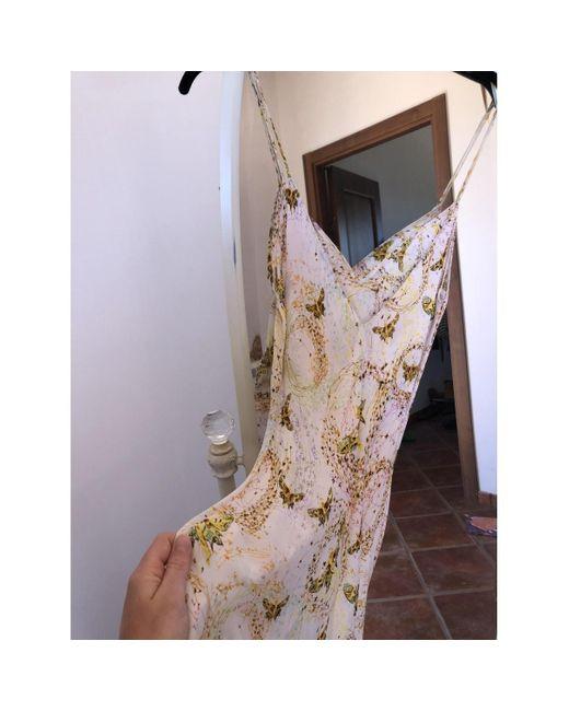 Diane Von Furstenberg Robe En Soie Blanc Femme