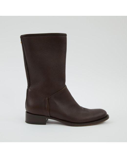 Loro Piana - Brown Leather Boot - Lyst