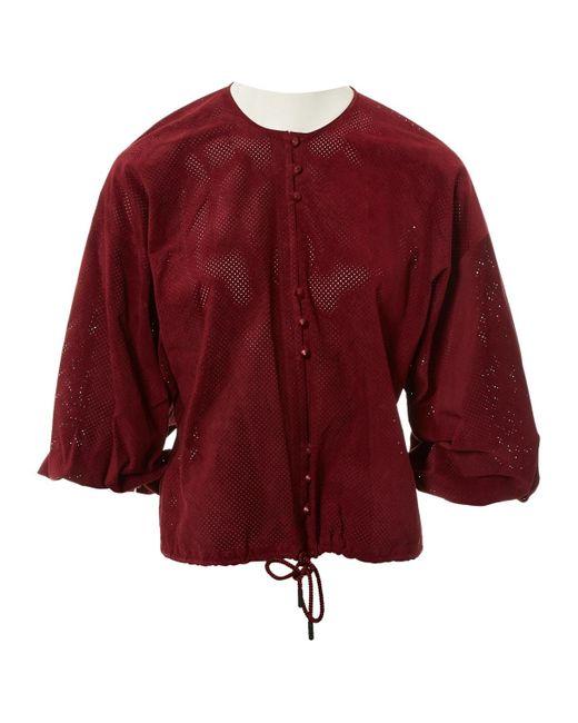Vilshenko Camiseta de mujer de color rojo 3TqYp