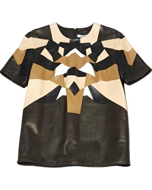 Givenchy Camiseta de Cuero de mujer de color negro PEHIV