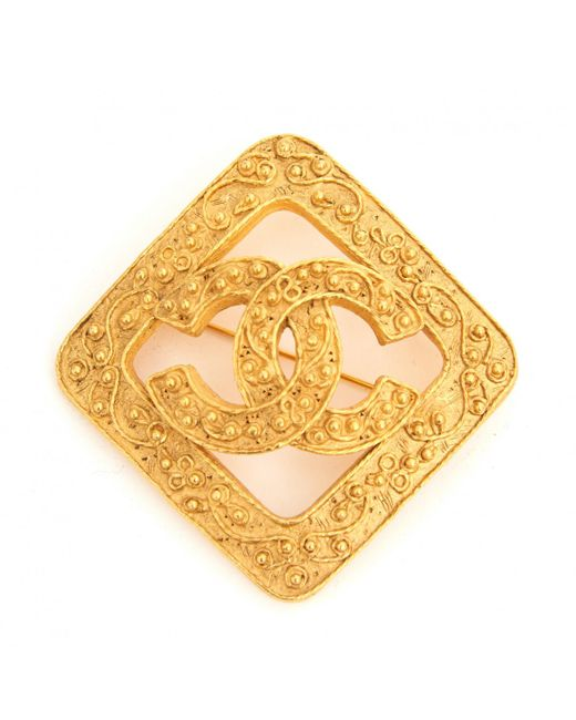 Chanel - Metallic Pre-owned Pin & Brooche - Lyst