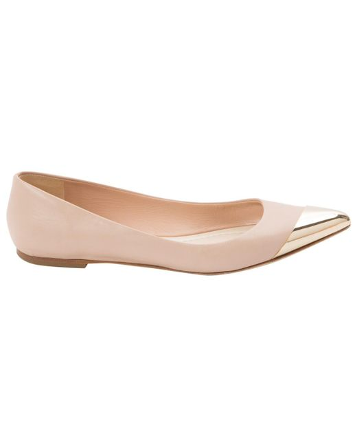 Dior | Pink Pre-owned Leather Ballet Flats | Lyst
