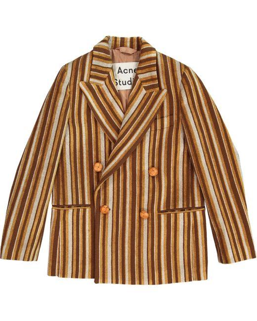 Acne Brown Multicolour Wool