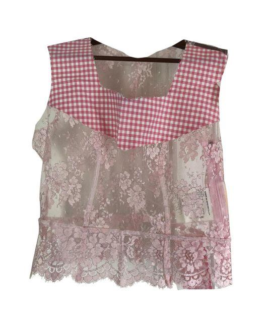 Comme des Garçons Blusa de Encaje de mujer de color rosa PVCgo