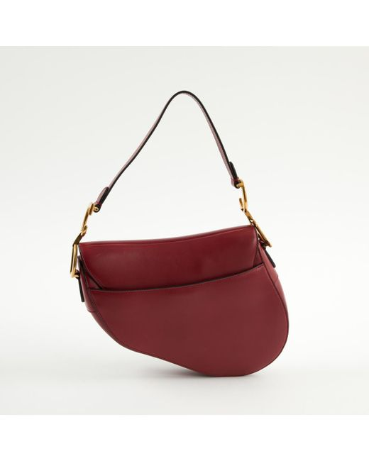 ... Dior - Multicolor Pre-owned Saddle Burgundy Leather Handbags - Lyst be5ec33082fb0