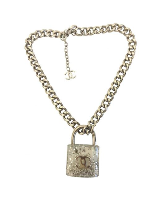 Chanel - Metallic Metal Long Necklace - Lyst